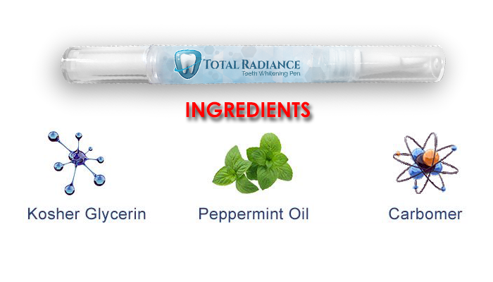 Total Radiance Teeth Whitening ingredients