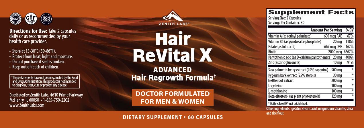 Zenith Hair Revital Dosage